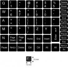 N3 Schwarze Tastaturaufkleber – mittel Set - 13:13mm