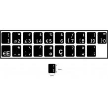 N19 Schwarze Tastaturaufkleber - Portugiesisch – mittel Set - 14:12mm
