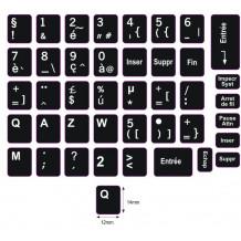 N5 Schwarze Tastaturaufkleber - Französisch – großes Set - 14:12mm