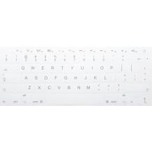 N18 Weiss Tastaturaufkleber Apple – großes Set - 14:14mm