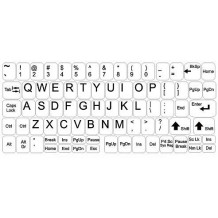 Weisse Tastaturaufkleber – Großes Set
